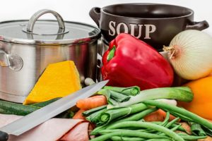 野菜と調理道具